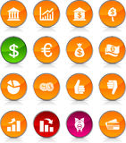 MOney  icons. MOney glossy icons. Circle buttons Royalty Free Stock Photos