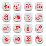 Money icons. Money Vector Icon Set for web and mobile. All elements are grouped Stock Photography