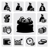 Money icons Stock Photos