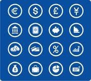 Money icons. Money raster iconset. Vector version is available in my portfolio Stock Image