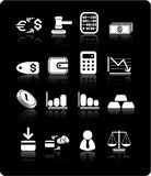 Money icons. Money raster iconset. Vector version is available in my portfolio Royalty Free Stock Photography