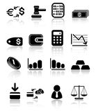 Money icons. Money raster iconset. Vector version is available in my portfolio Royalty Free Stock Images