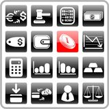 Money icons. Money raster iconset. Vector version is available in my portfolio Royalty Free Stock Photo