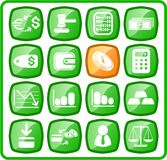 Money icons Stock Images
