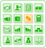 Money icons. Money raster iconset. Vector version is available in my portfolio Royalty Free Stock Photos