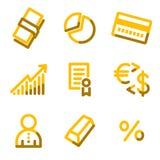 Money icons Royalty Free Stock Photo