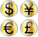 Money icons. Vector illustration for money icons Stock Photo