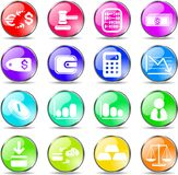 Money icons. Money vector iconset, rainbow style Stock Photography