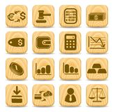 Money icons. Money vector iconset, woody style Royalty Free Stock Photography