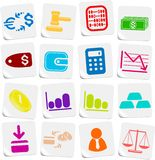 Money icons. Money vector iconset, sticker style Stock Photography