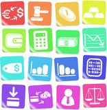 Money icons. Money vector iconset, rainbow style Stock Photos
