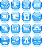 Money icons. Money vector iconset, aqua style Royalty Free Stock Photo