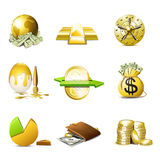 Money icons | Bella series. Financial and money icons. Bella series Stock Photos