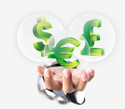 Money icons for business finance Royalty Free Stock Photo