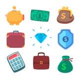 Money icons Royalty Free Stock Image