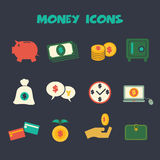 Money icons3 Royalty Free Stock Image