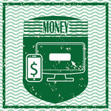 Money icons design. Money concept with financial icons design, vector illustration 10 eps graphic Stock Photos