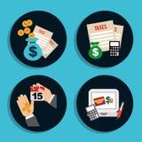Money icons Stock Photos