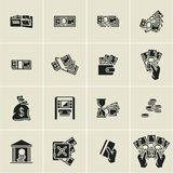 Money icons, finance, business icons set, hand holding money,. Hand holding credit card Royalty Free Stock Image