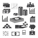 Money icons illustration EPS 10 Stock Photo