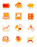 Money icons | JUICY series. All about earning, saving and spending money icon set Royalty Free Stock Images