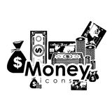 Money icons. Over white background vector illustration Stock Image