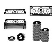 Money icons. Over white background vector illustration Stock Images