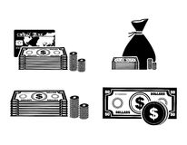 Money icons. Over white background vector illustration Stock Photo