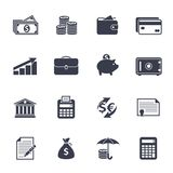 Money icons Royalty Free Stock Image
