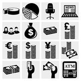 Money icons set. Finance icon set. Vector Stock Images
