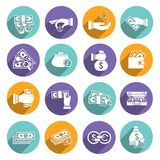 Money Icons Set Stock Photo