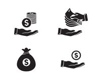 Money Icons royalty free illustration
