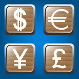 Money icons set Royalty Free Stock Photos
