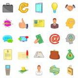 Money icons set, cartoon style. Money icons set. Cartoon set of 25 money vector icons for web isolated on white background Stock Photography