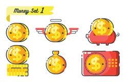 Money icons set 1 Stock Images