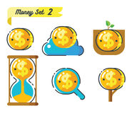 Money icons set 2 Stock Images