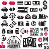 Money icons set. Finance Icons collection. Banking icons. Money icons set. Finance Icons collection. Banking icons set Royalty Free Stock Photos
