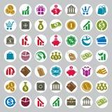 Money icons  set, finance theme simplistic symbols  Royalty Free Stock Image