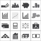 Money icons set. A  illustration Stock Images
