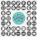 Money icons set. Royalty Free Stock Image