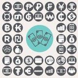 Money icons set. Illustration eps10 Royalty Free Stock Image