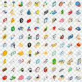 100 money icons set, isometric 3d style. 100 money icons set in isometric 3d style for any design vector illustration Vector Illustration