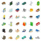 Money icons set, isometric style Royalty Free Stock Photo