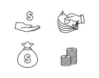 Money Icons vector illustration