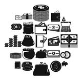 Money icons set, simple style. Money icons set. Simple illustration of 25 money vector icons for web Royalty Free Stock Photography
