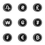 Money icons set, simple style Stock Image