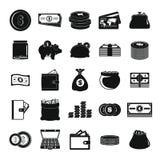 Money icons set, simple style Royalty Free Stock Photos