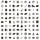 100 money icons set, simple style. 100 money icons set in simple style on a white background Royalty Free Illustration