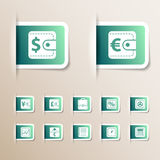 Money icons set. Vector illustration Stock Images