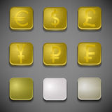 Money icons set. Vector illustration Royalty Free Stock Image